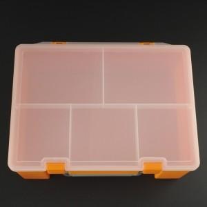 Caja de Herramientas Multifuncional 10.5x25x18 cm Color Naranja