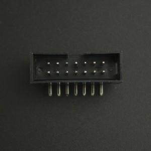 Conector IDC DC3-14P 2*7P Acodado Macho/Macho