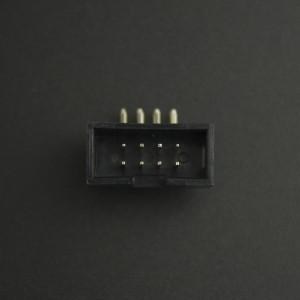 Conector IDC DC3-8P 2*4P Acodado Macho/Macho