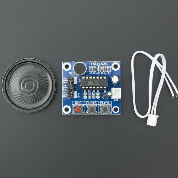 Módulo de Grabación de Sonido/Voz ISD1820 con Micrófono Integrado