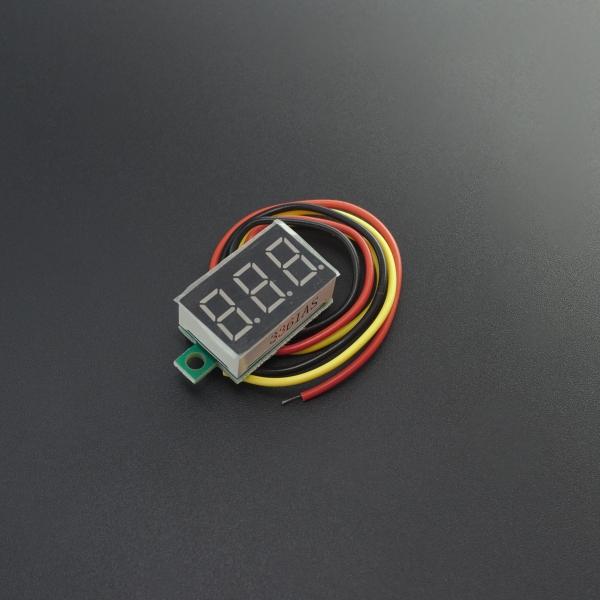 Mini Voltímetro 7 SEG Rojo 4.8V~30V