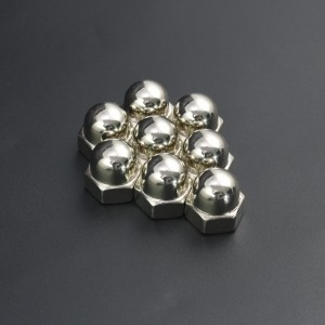 Tuerca Hexagonal Ciega M10 Niquelada