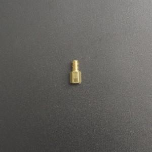 Separador de Bronce M4x6+6 mm