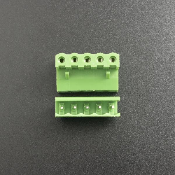Terminal de Bloque Enchufable 5.08MM Verde 5P