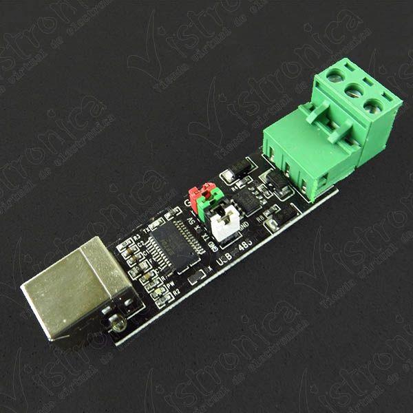 Convertidor USB A TTL RS485 con Chip FT232