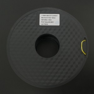 Filamento ABS 1.75mm Amarillo para Impresora 3D 1Kg LEE FUNG