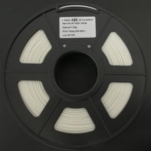 Filamento ABS 1.75mm Blanco para Impresora 3D 1Kg LEE FUNG
