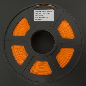 Filamento ABS 1.75mm Naranja para Impresora 3D 1Kg LEE FUNG