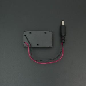 Porta pila de 9v cuadrada con salida Jack tipo barril
