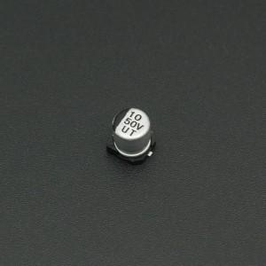 Capacitor Electrolítico De Aluminio 10 uF 50V 5x5 mm SMD