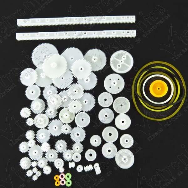 kit de piñones y accesorios para motores servo