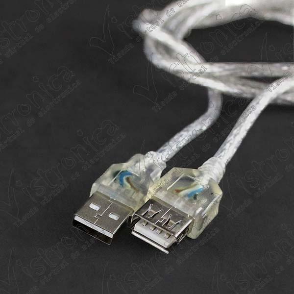 Cable USB 2.0 AM/AH Alargador Macho/Hembra 1.2m
