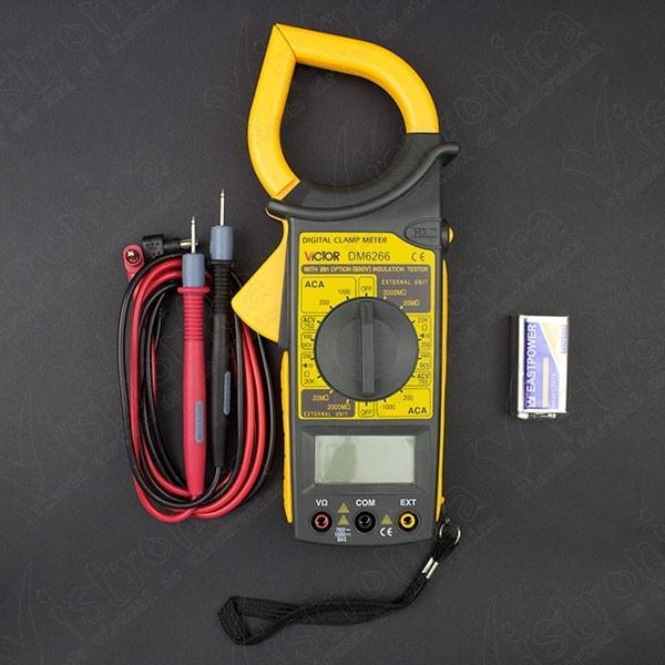 Pinza amperimétrica Victor DM6266