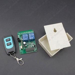 Módulo Relé 2 Canales con RF 315Mhz 10A + Caja + Control