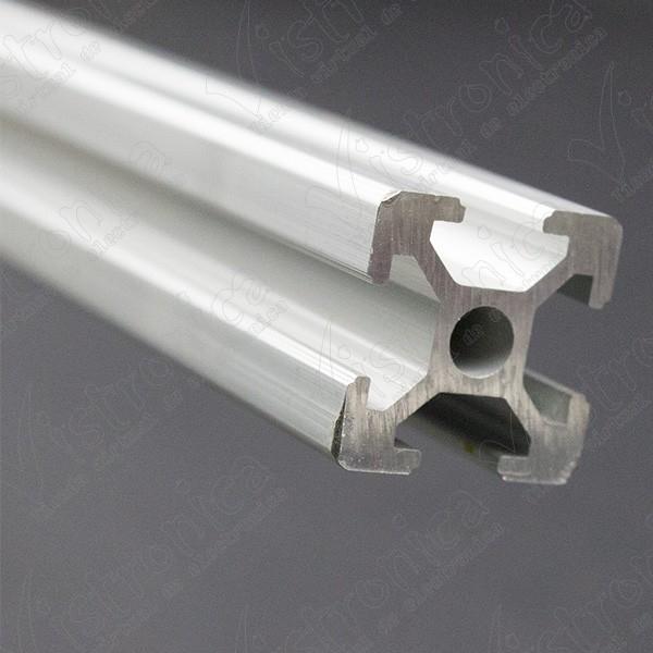 Perfil de Aluminio Para Impresora 3D Kossel 20X20MM 1 Metro