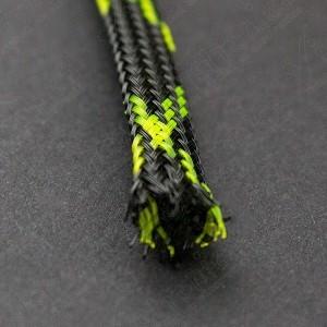 Funda PET 6mm Negra-Verde Protector Cables 1 Metro Genérico - 2