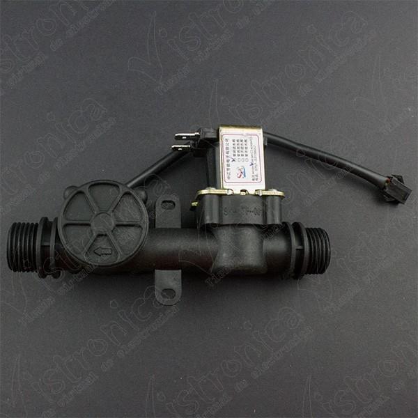 Sensor Medidor de Flujo de Agua + Electroválvula 1/2 Pulgada Genérico - 1