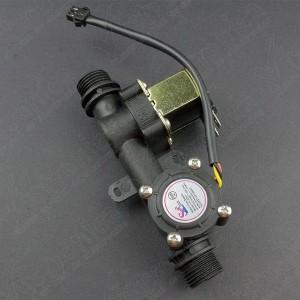 Sensor Medidor de Flujo de Agua + Electroválvula 1/2 Pulgada Genérico - 2