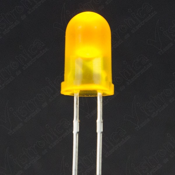 LED Amarillo 5mm Difuso
