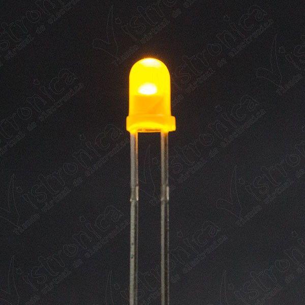 LED Amarillo 3mm Difuso