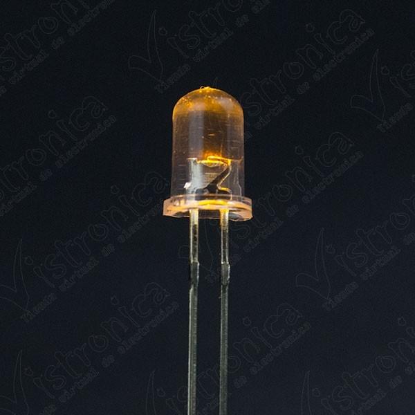 LED Amarillo 5mm Chorro