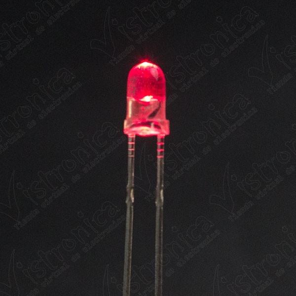 LED Rojo 3mm Chorro