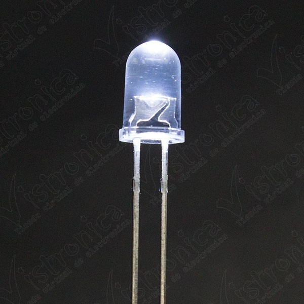 LED Blanco 5mm Chorro