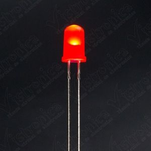 LED Rojo 5mm Difuso