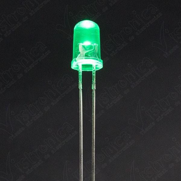 LED Verde 5mm Chorro