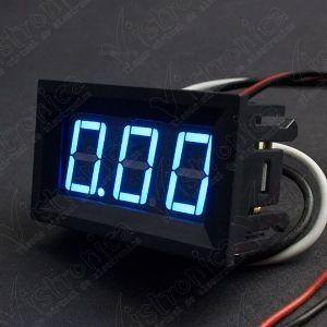 Voltímetro 7 Seg Azul 4.5V- 30V DC