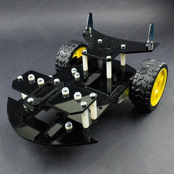 Chasis para Kit Robot GPR V2.0 Con Motores TT y Ruedas (Desarmado) Vistronica - 1