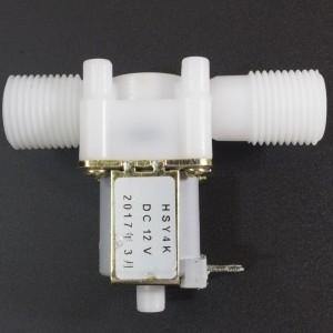Electroválvula de Plástico 12V 1/2'' HSY4K Con Presión Normalmente Abierta