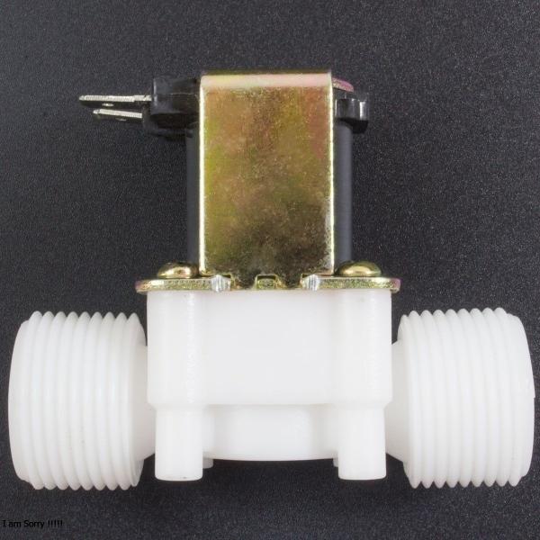 Electroválvula de Plástico 12V 3/4'' Con Presión Genérico - 1