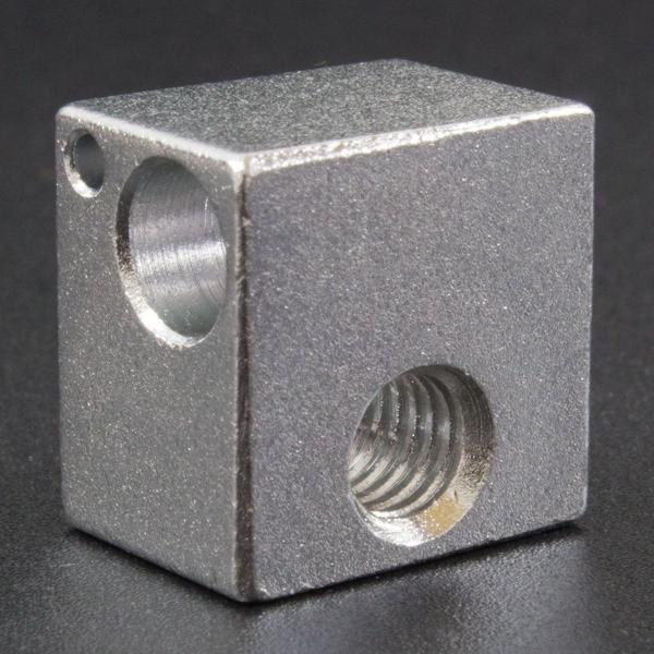 Bloque de aluminio para extrusor 16×16×12mm