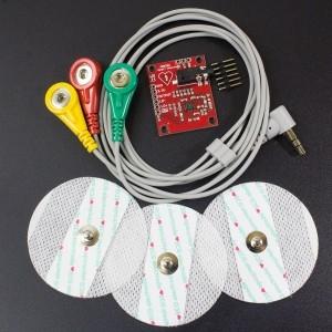 Kit Monitor de Frecuencia Cardiaca AD8232 Genérico - 2