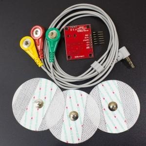 Kit Monitor de Frecuencia Cardiaca AD8232 Genérico - 3