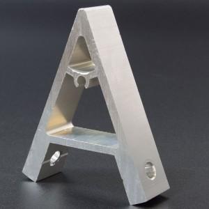 Soporte 45 Grados en Aluminio Para Perfil 20x20  Genérico - 2