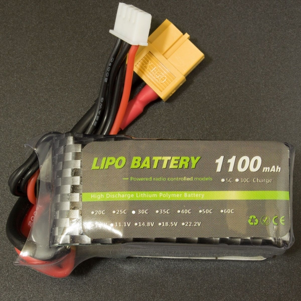 Bateria Lipo 1100mAh 30C 7.4V