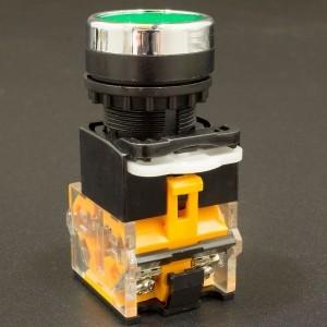 Interruptor Pulsador Normalmente Abierto 22mm LA38-11BN Verde Genérico - 3