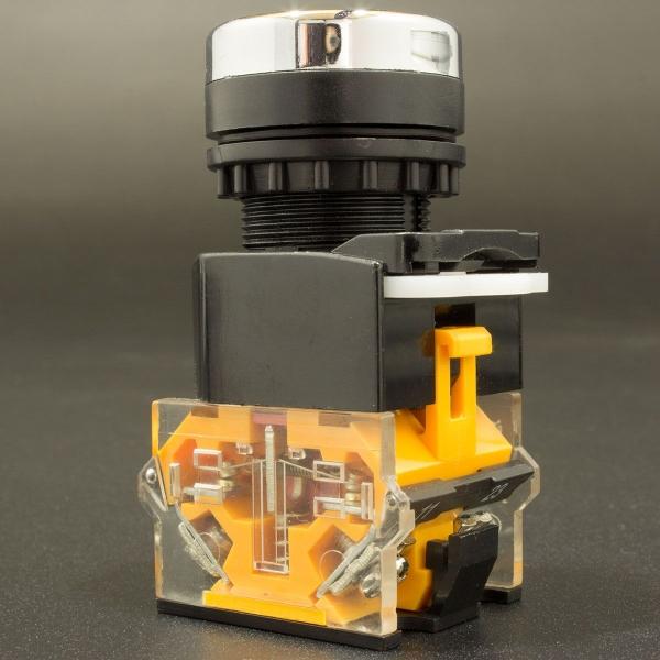 Interruptor Pulsador Normalmente Abierto Verde-Amarillo