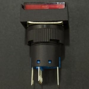 Interruptor Pulsador NC/NO LA16-11DN/J Con LED Rojo 12V Genérico - 3