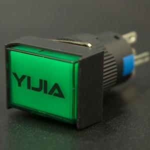 Interruptor Pulsador NC/NO LA16-11DN/J Con LED Verde 12V Genérico - 1