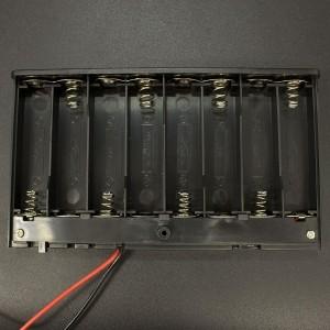 Caja Porta Baterías AA x8 Con Tapa