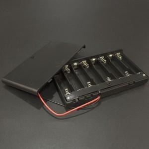 Caja Porta Baterías AA x8 Con Tapa Genérico - 2