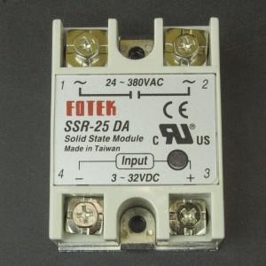 Relé Estado Solido 24-380VAC 25A SSR-25DA