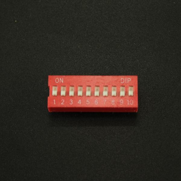 DIP Switch de 10P Rojo Genérico - 1