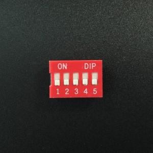 DIP Switch de 5P Rojo