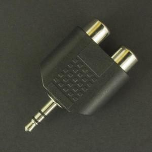 Adaptador 2 Jacks RCA a Plug 3.5mm Estéreo  Genérico - 1