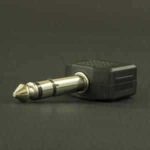 Adaptador 2 Jack 3.5mm A Plug 6.3mm Estéreo  Genérico - 2