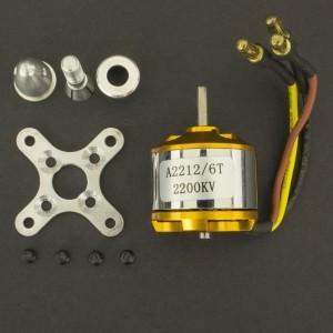 Motor eléctrico Brushless A2212/2200Kv 6T Genérico - 1
